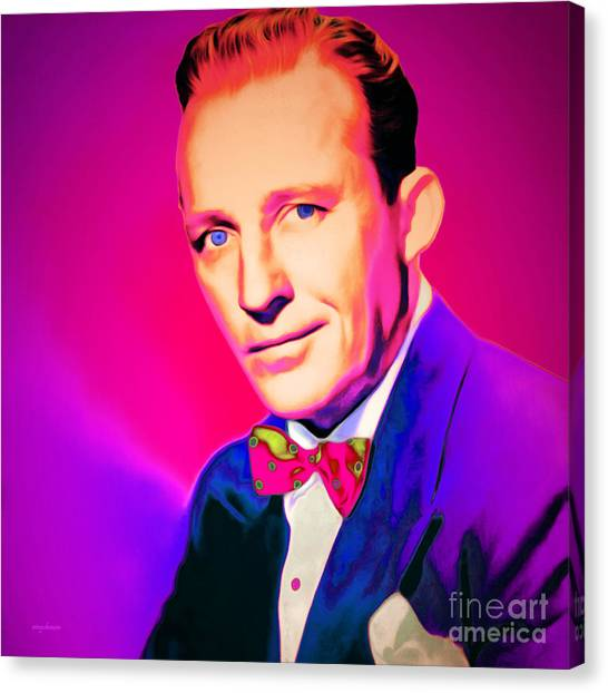 Tap Dance Canvas Print - Bing Crosby 20151226 Square by Wingsdomain Art and Photography