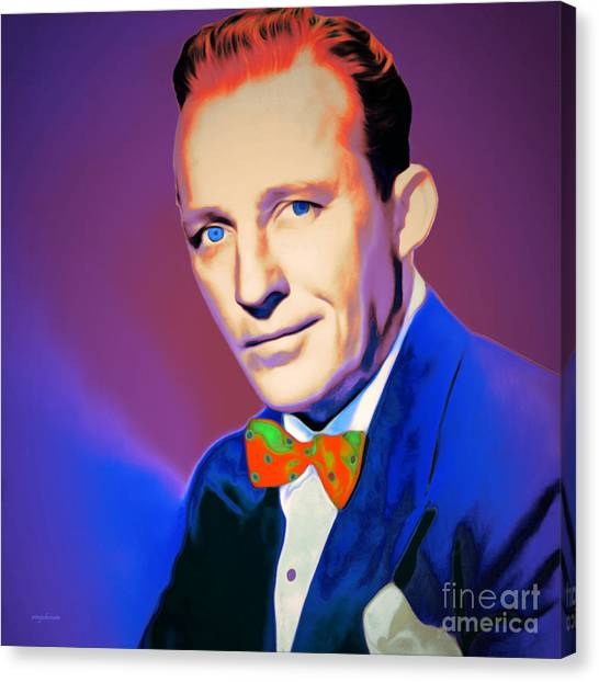 Tap Dance Canvas Print - Bing Crosby 20151226 V2 Square by Wingsdomain Art and Photography