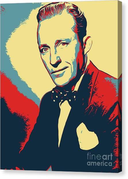 Obama Poster Canvas Print - Bing Crosby Poster Art by John Springfield