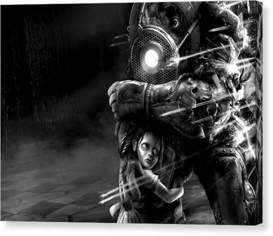 Bioshock Canvas Print - Bioshock 2 by Alice Kent
