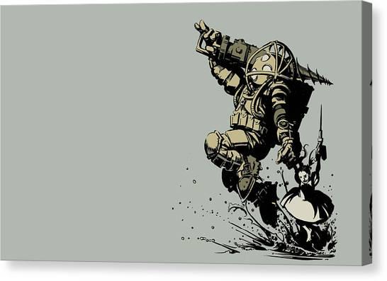 Bioshock Canvas Print - Bioshock by Barbara Elvins