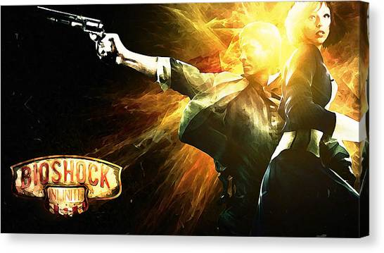 Bioshock Canvas Print - Bioshock Infinite by Lora Battle