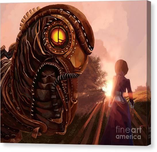 Bioshock Canvas Print - Bioshock Songbird Elizabeth's Protector by Jackie Case
