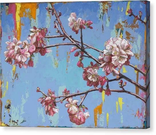 Cherry Blossom Canvas Print - Biosphere #1 by David Palmer