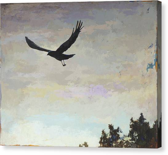 Crows Canvas Print - Biosphere #4 by David Palmer