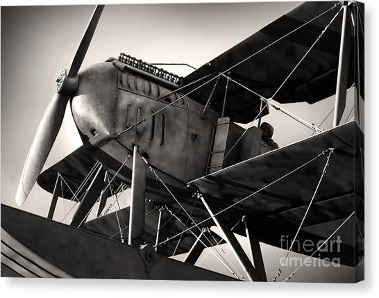 Cockpits Canvas Print - Biplane by Carlos Caetano