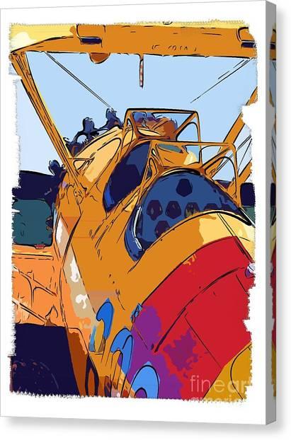 Biplane Canvas Print