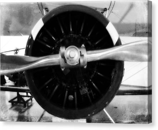Biplane Propeller Canvas Print