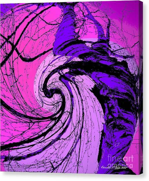 Birch - Purple And Pink Canvas Print