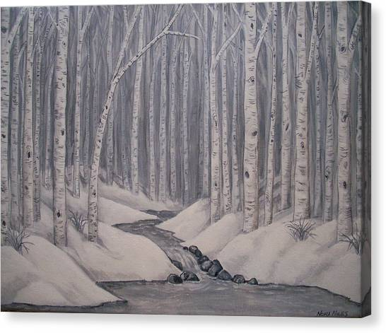 Birch Forest Canvas Print by Nora Niles