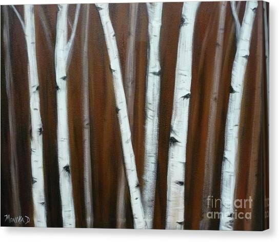 Birch Trees-2 Canvas Print