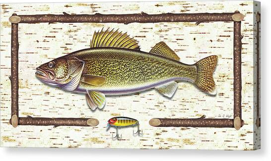 Lake Canvas Print - Birch Walleye by JQ Licensing