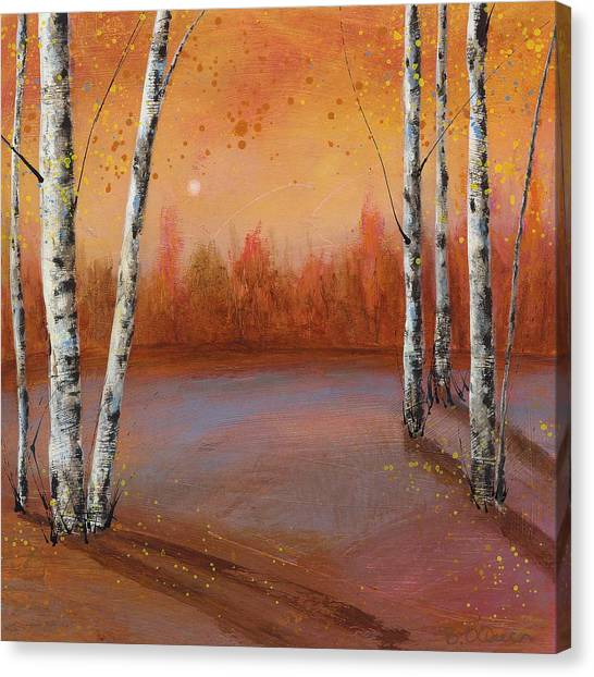 Birches In The Fall Canvas Print
