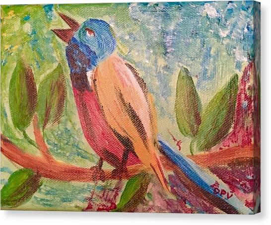 Bird At Rest Canvas Print