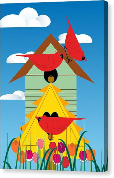 Bird Condo Canvas Print