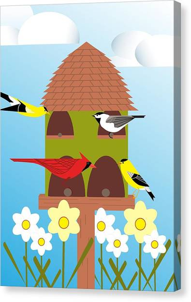 Bird Feeder Canvas Print