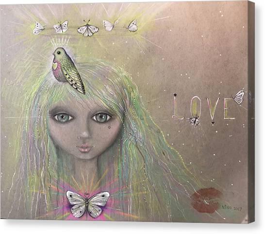 Bird From Spirit World  Canvas Print