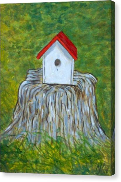 Bird House Canvas Print by Norman F Jackson
