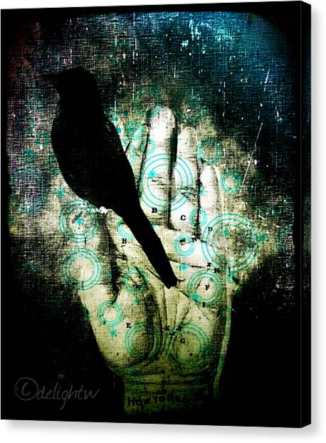 Bird In Hand Canvas Print