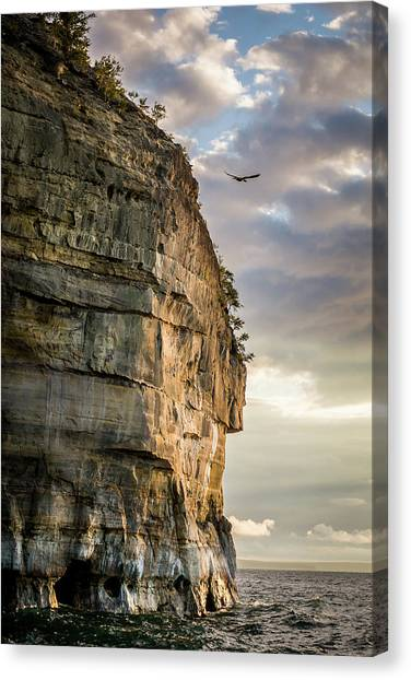 Sunset On The Pictured Rocks Canvas Print