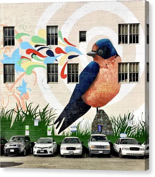 Canvas Print - Bird Mural by Julie Gebhardt