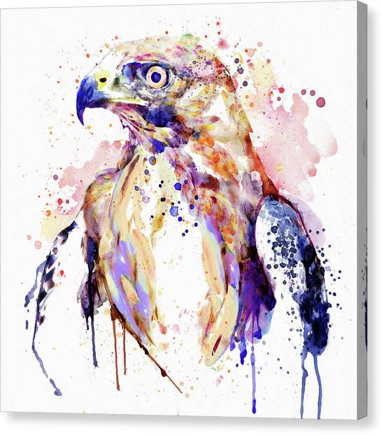 Golden Eagle Canvas Print - Bird Of Prey  by Marian Voicu