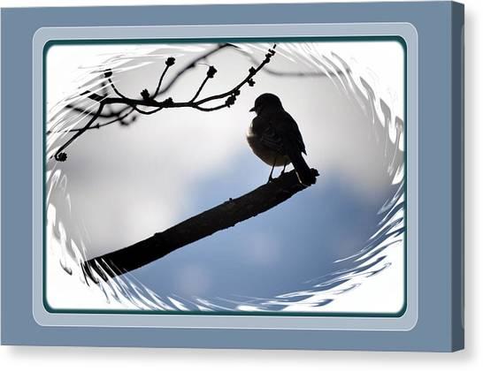 Bird On A Branch Canvas Print by Russ Mullen
