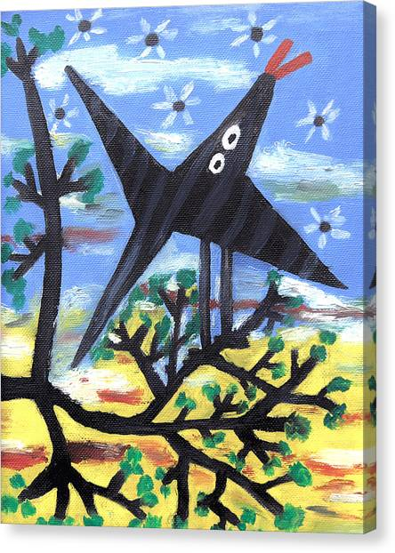 Pablo Picasso Canvas Print - Bird On A Tree After Picasso by Alexandra Jordankova
