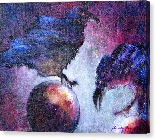 Bird Or Fiend Canvas Print by Sandy Applegate