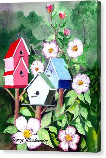 Birdhouse Canvas Print by George Markiewicz