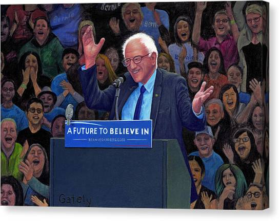 Bernie Sanders Canvas Print - Birdie Sanders by Robert Gately