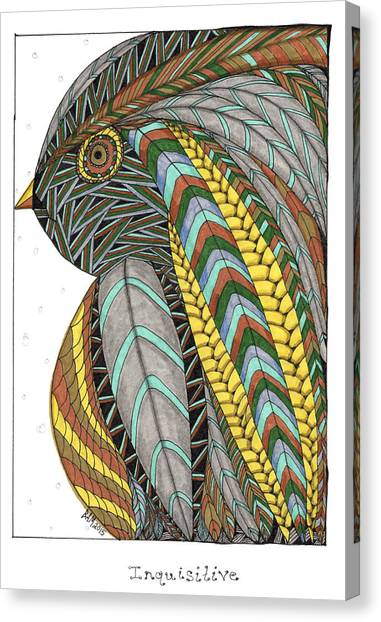 Bird_inquisitive_s007 Canvas Print