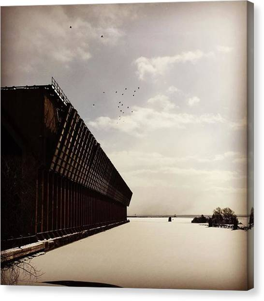 Marquette University Canvas Print - |birds| #marquette #michigan #oredock by Becky Ballance