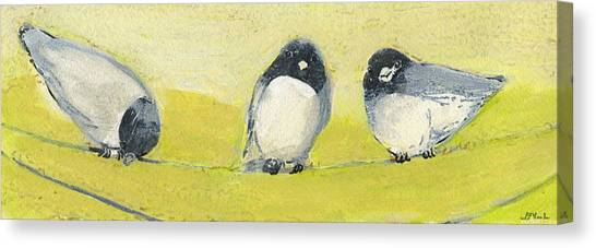 Sparrows Canvas Print - Birds On A Wire by Jennifer Lommers
