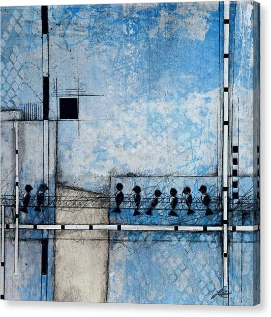 Canvas Print - Birds On A Wire  by Laura Lein-Svencner