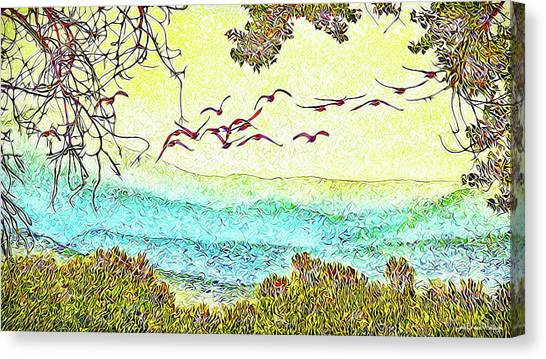 Birds Over Horizon - Boulder County Colorado Canvas Print