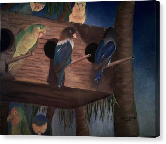 Birds Resting Canvas Print