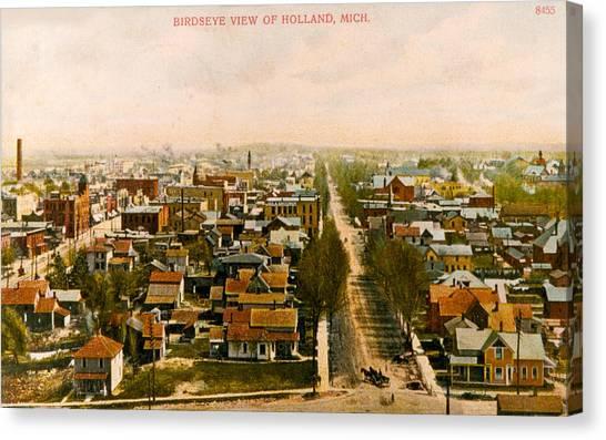 Birdseye View Of Holland Michigan Canvas Print