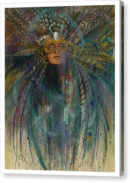 Birdtribe Magic Canvas Print by Pamela Mccabe