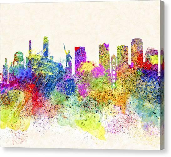 Birmingham Alabama Skyline Art Canvas Print