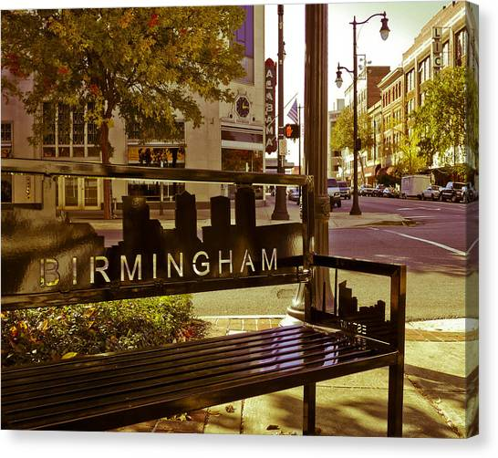 Birmingham Bench Canvas Print