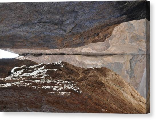 Birth In Stone Canvas Print by Thor Sigstedt