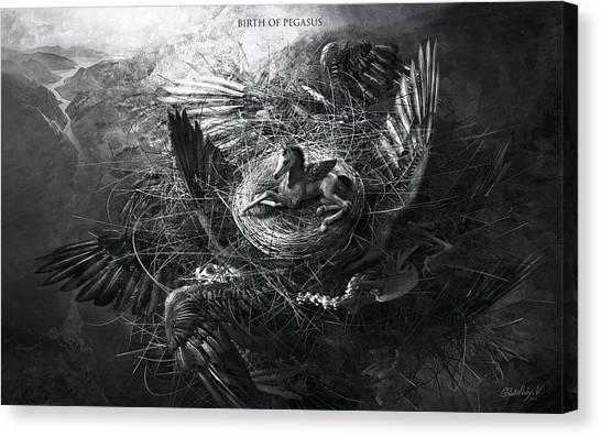 Birth Of Pegasus Canvas Print