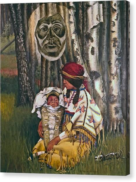 Birth Spirit Canvas Print by Peter Muzyka