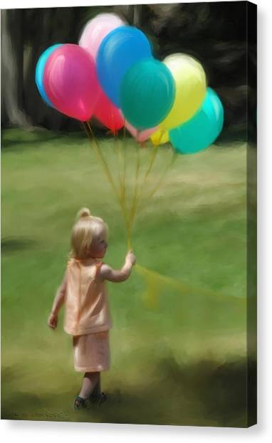 Birthday Balloons Canvas Print by Lisa  Westrope