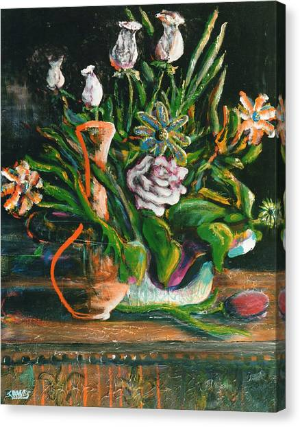 Birthday Bouquet Canvas Print