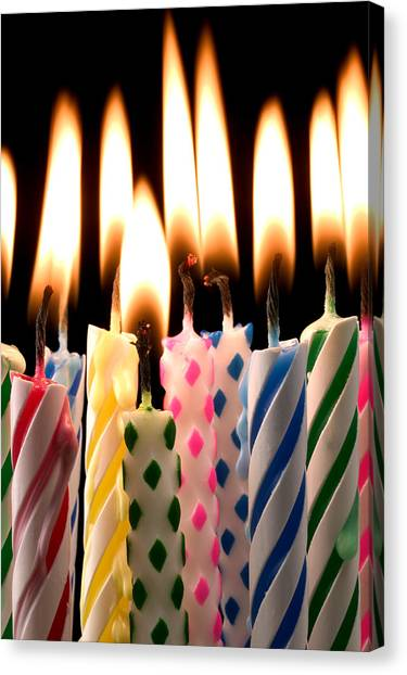 Concert Images Canvas Print - Birthday Candles by Garry Gay