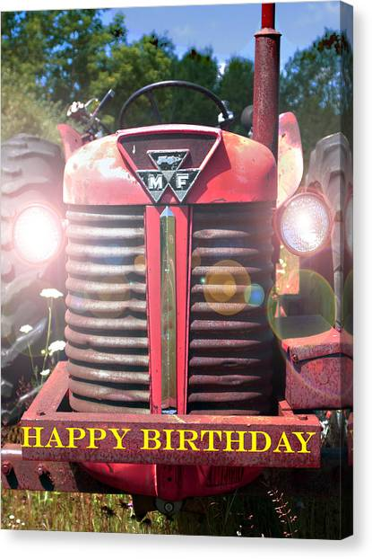 Birthday Card -- Big M-f Canvas Print
