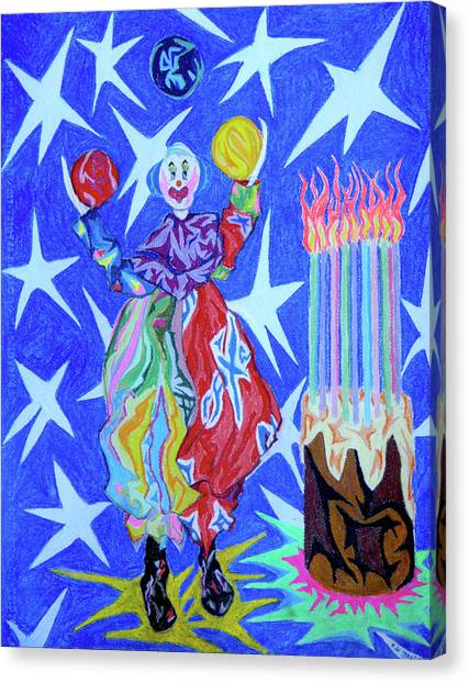 Birthday Clown Canvas Print