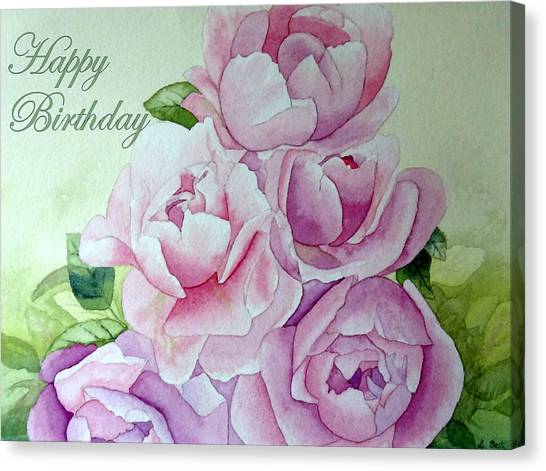 Birthday Peonies Canvas Print